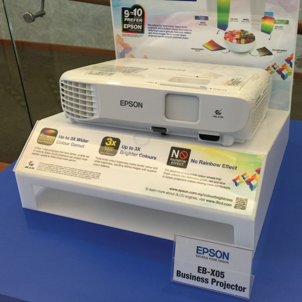 launch of epson new entry projector eb s41 eb x05 projector malaysia. Black Bedroom Furniture Sets. Home Design Ideas